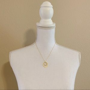 Jewelry - Goldtone Double Ring Necklace